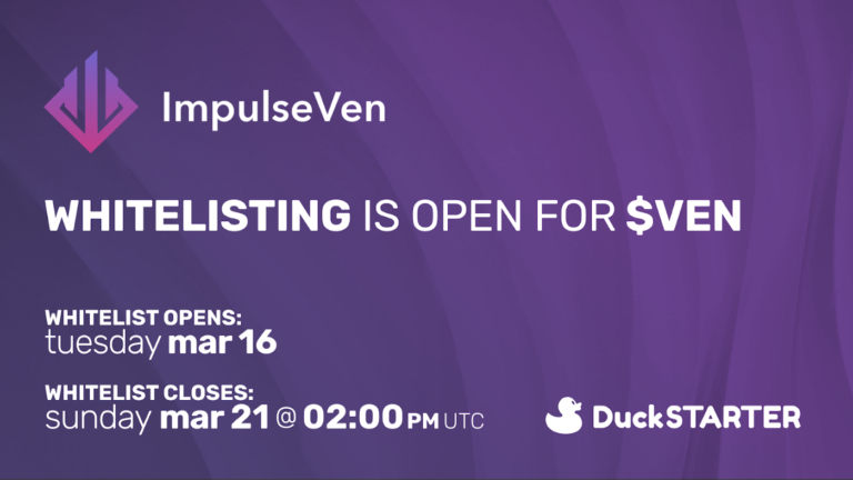 ImpulseVen $VEN whitelist is now open