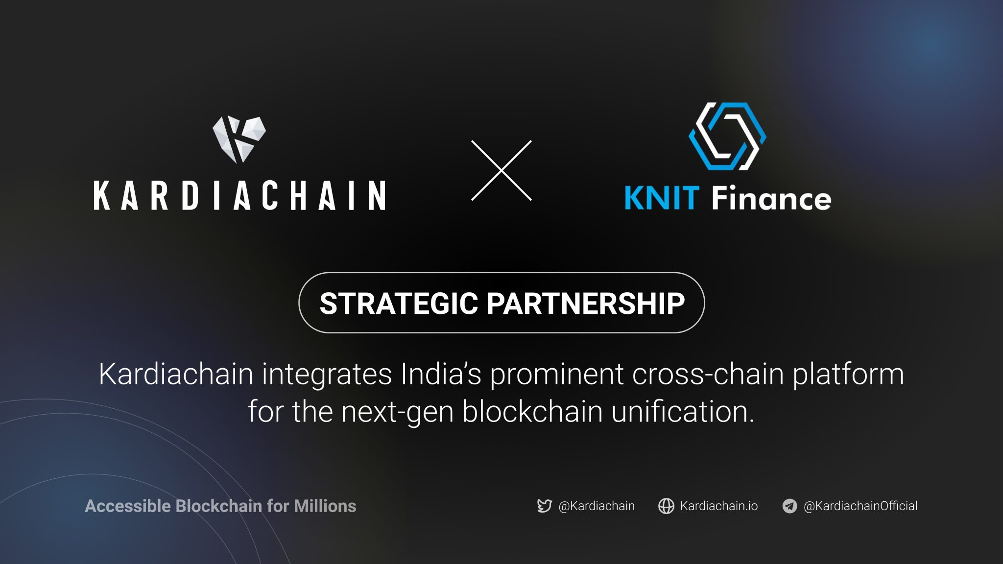 Kardiachain Enters Strategic Partnership With Knit Finance