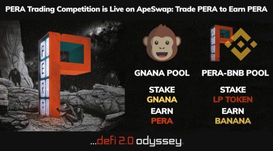 Pera Finance Partnership with Apeswap