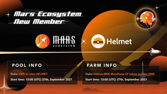 Mars Ecosystem launched a New Farm and Pool for Helmet Insure