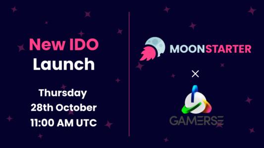 GΛMΞRSΞ Initial Decentralized Offering (IDO) on MoonStarter