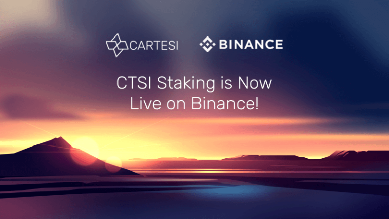 CTSI Staking is Now Live on Binance